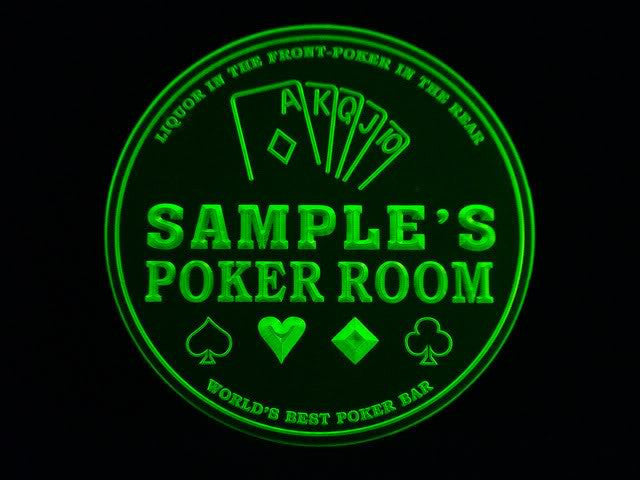 Personalized Name Custom Best Poker Casino Room Bar Beer 3D Coasters X10 Pcs