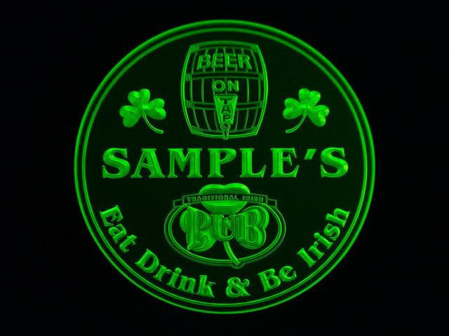 Personalized Name Custom Irish Pub Shamrock Bar Beer 3D Coasters X10 Pcs -  - TheLedHeroes