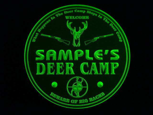 Personalized Name Custom Deer Camp Racks Bar Beer 3D Coasters X10 Pcs -  - TheLedHeroes