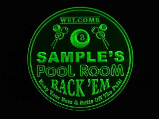 Personalized Name Custom Pool Room8 Ball Rack 'em Bar 3D Coasters X10 Pcs -  - TheLedHeroes
