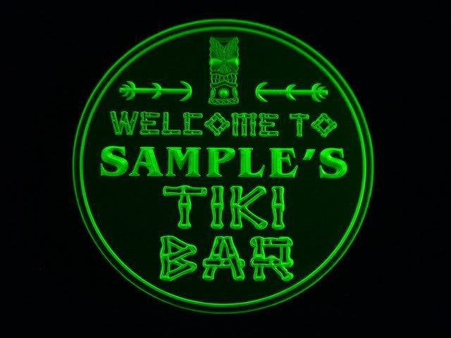 Personalized Name Custom Tiki Bar Beer 3D Coasters X10 Pcs