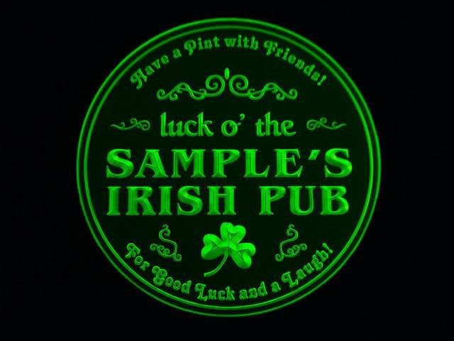 Personalized Name Custom Irish Pub Shamrock Bar Beer 3D Coasters X10 Pcs
