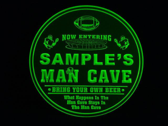 Personalized Name Custom Football Man Cave Bar Beer 3D Coasters X10 Pcs -  - TheLedHeroes
