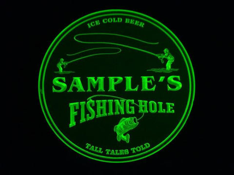 Personalized Name Custom Fishing Hole Bar Beer 3D Coasters X10 Pcs -  - TheLedHeroes
