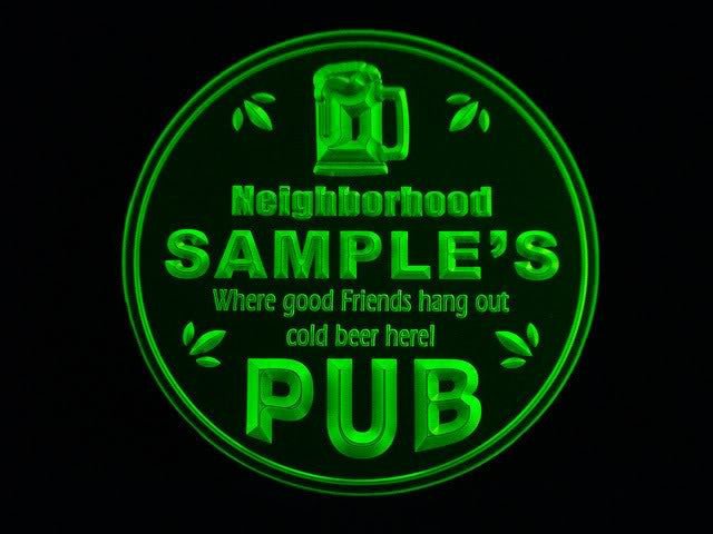 Personalized Name Custom Neighborhood Pub Bar Beer 3D Coasters X10 Pcs