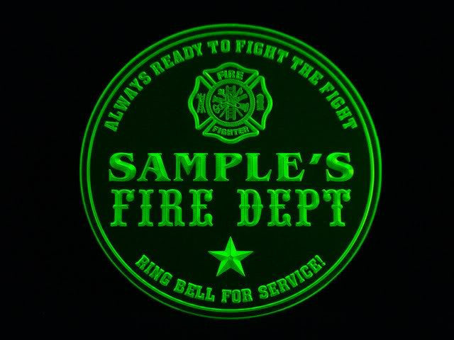 Personalized Name Custom Fire Department Firefighter Bar 3D Coasters X10 Pcs -  - TheLedHeroes