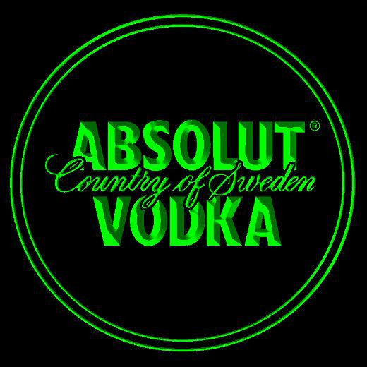 10x Absolut Vodka Country of Sweden Neon Acrylic Coasters -  - TheLedHeroes