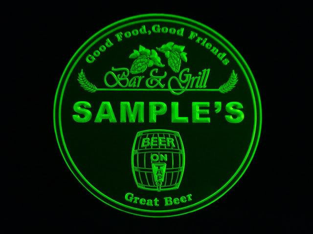 Personalized Name Custom Bar & Grill Beer 3D Coasters X10 Pcs