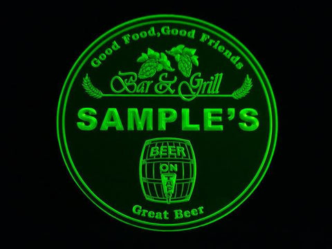 Personalized Name Custom Bar & Grill Beer 3D Coasters X10 Pcs -  - TheLedHeroes