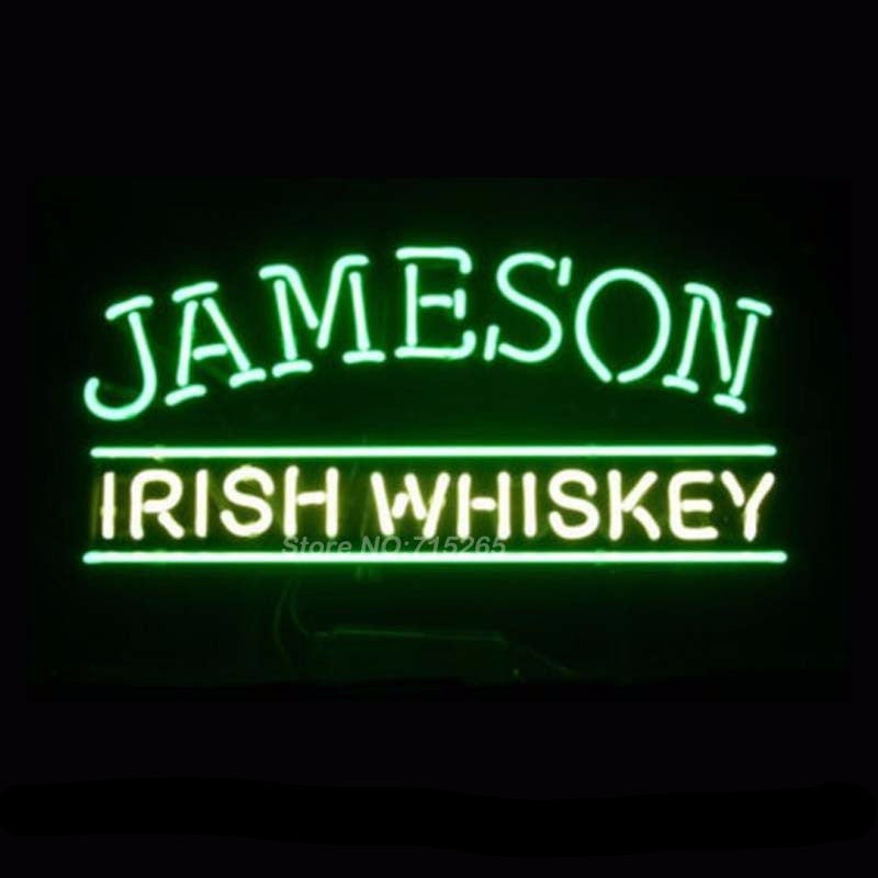 Jameson Irish Blended Neon Bulbs Sign 16x12 -  - TheLedHeroes