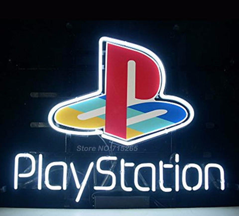 Playstation Game Room Neon Bulbs Sign 17x14