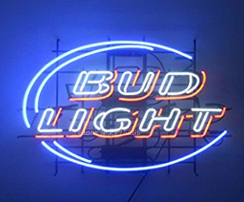 Bud Light Blue Neon Bulbs Sign 17x14 -  - TheLedHeroes