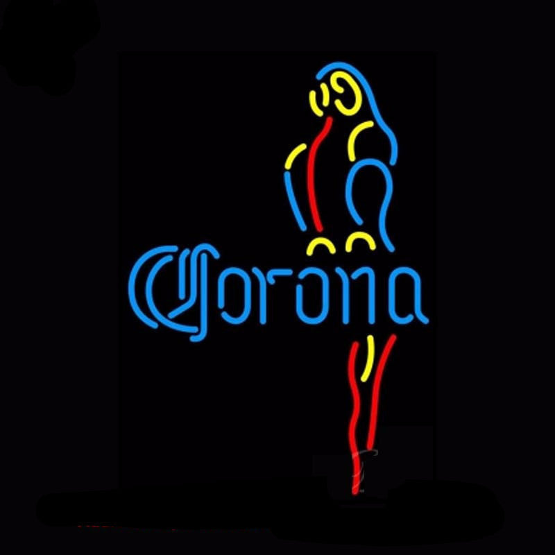 Corona Blue Parrot Neon Bulbs Sign 19x15 -  - TheLedHeroes