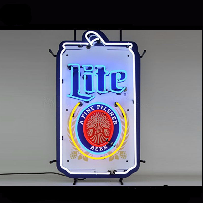 Miller Lite Can Its Miller Time Neon Bulbs Sign 13x8 -  - TheLedHeroes