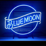 Blue Moon Neon Bulbs Sign 17x14
