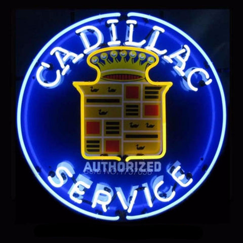 Cadillac Neon Bulbs Sign 24x24 -  - TheLedHeroes