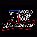 Budweiser World Poker Tour Neon Bulbs Sign 30x24 -  - TheLedHeroes