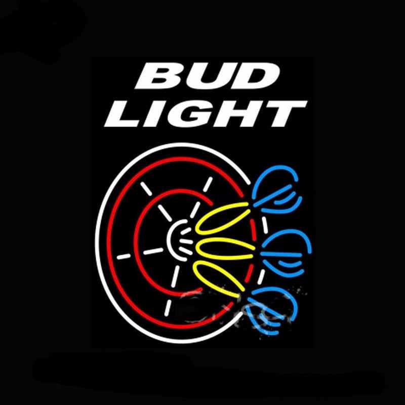 Bud Light Dart Glass Neon Bulbs Sign 24x31 -  - TheLedHeroes