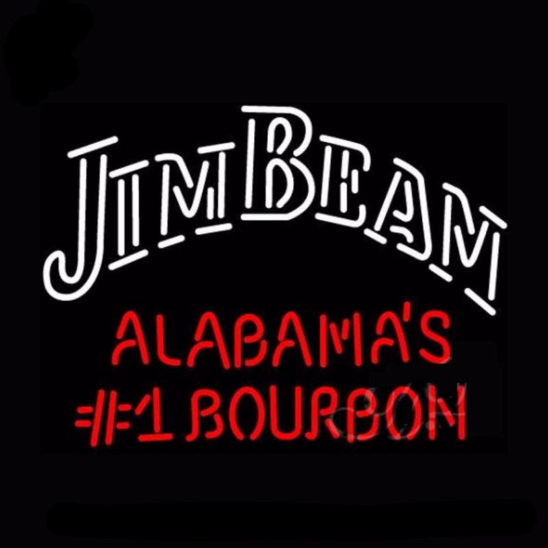Jim Beam Alabama's Bourbon Neon Bulbs Sign 31x24 -  - TheLedHeroes