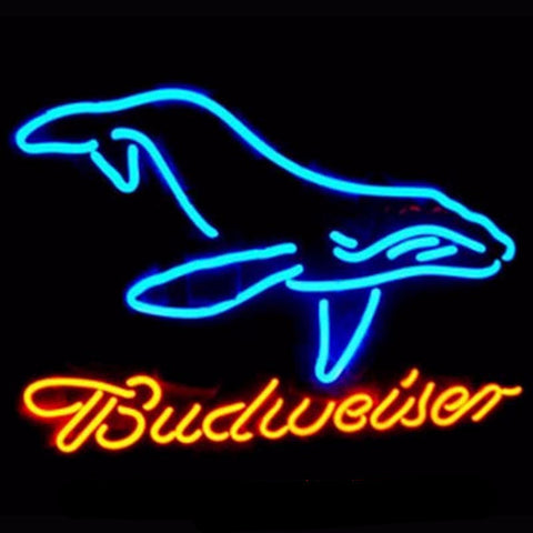 Budweiser  Whale Neon Bulbs Sign 20x24 -  - TheLedHeroes