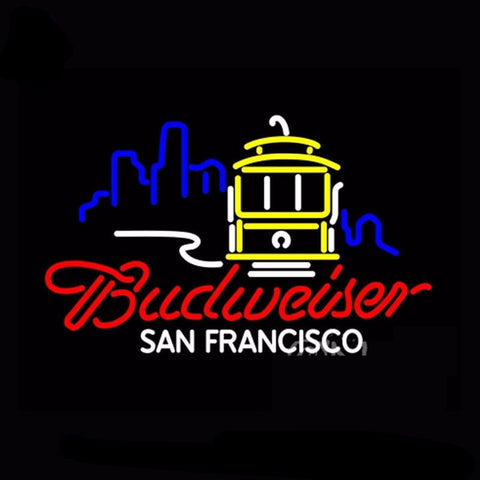 Budweiser San Francisco Cable Car Neon Bulbs Sign 31x24 -  - TheLedHeroes