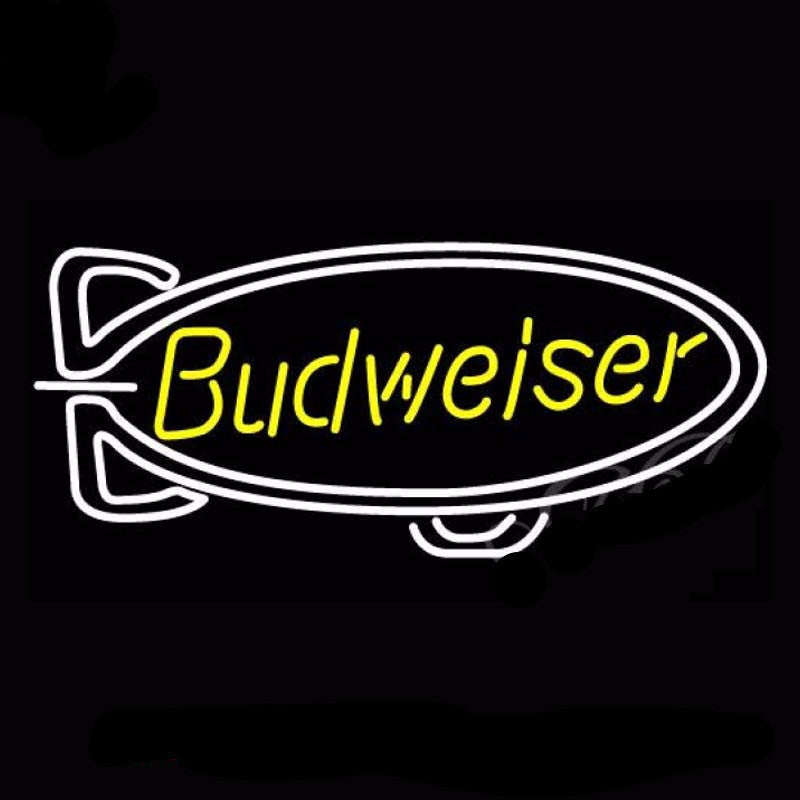 Budweiser Blimp Beer Neon Bulbs Sign 37x20 -  - TheLedHeroes