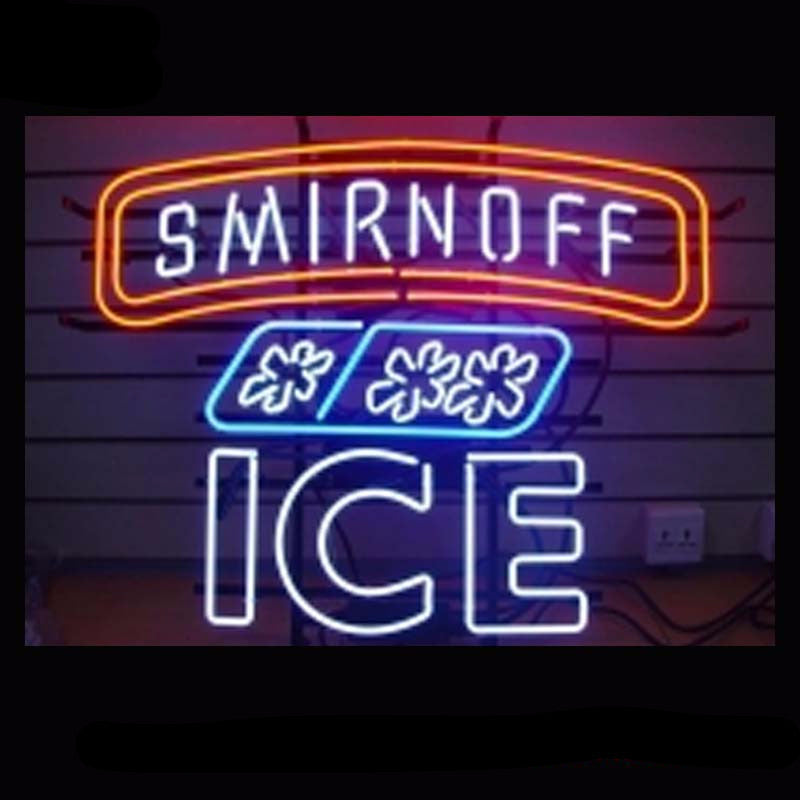 Smirnoff ICE Beer Bar Neon Bulbs Sign 24x24 -  - TheLedHeroes