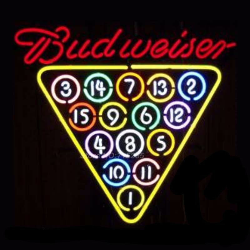 Budweiser Billards Neon Bulbs Sign 25x21 -  - TheLedHeroes