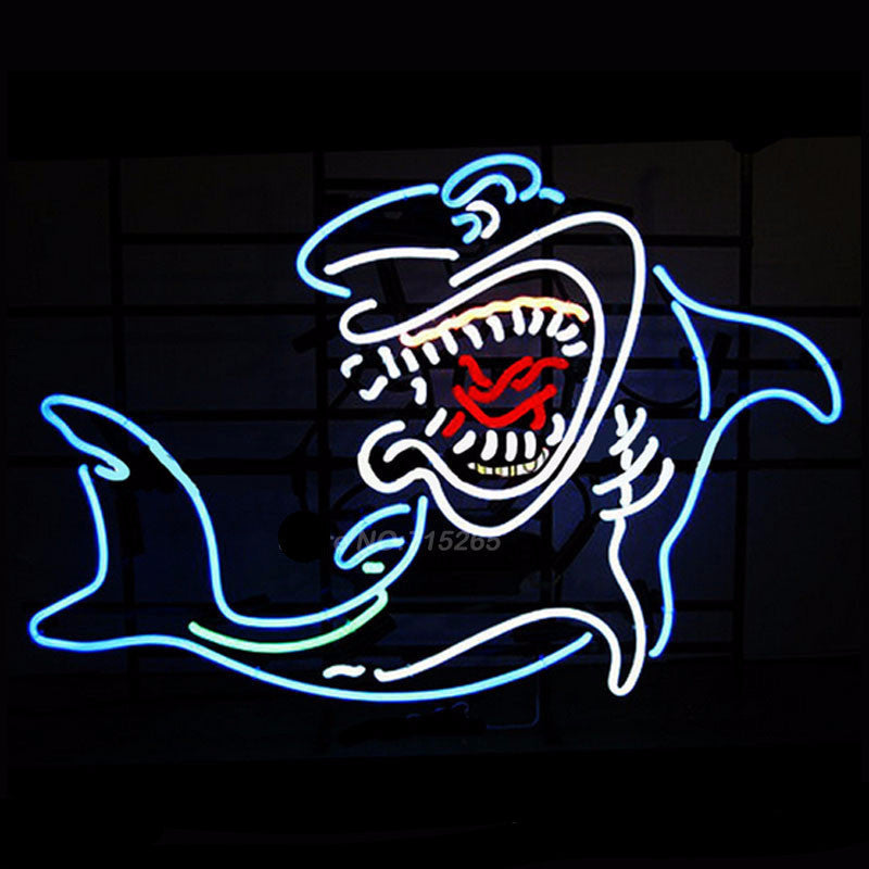 Shark Handcrafted Neon Bulbs Sign 19x15 -  - TheLedHeroes