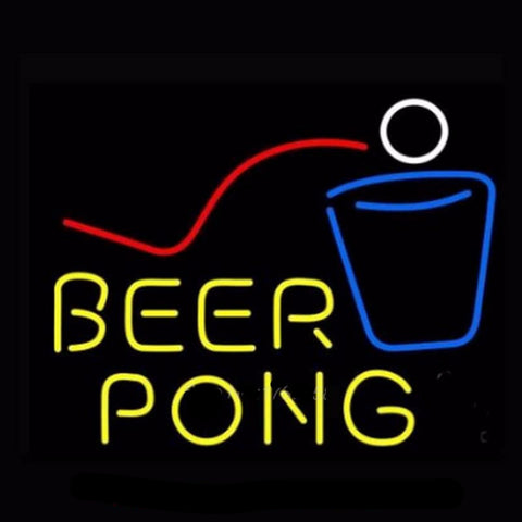 Beer Pong Neon Neon Bulbs Sign 17X14 -  - TheLedHeroes