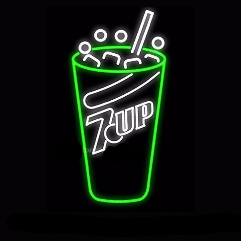7-Up Neon Bulbs Sign 19X15