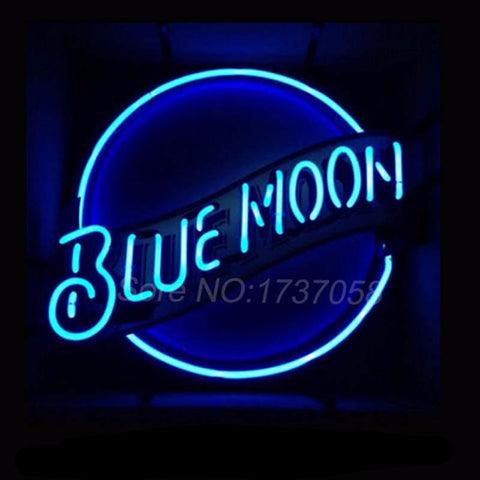 Blue Moon Neon Bulbs Sign 19x18 -  - TheLedHeroes