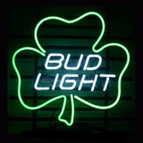 Bud Light Lucky Shamrock Neon Bulbs Sign 17x14