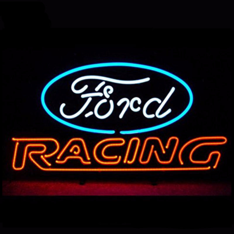 Ford American Auto Racing Neon Bulbs Sign 24x20 -  - TheLedHeroes