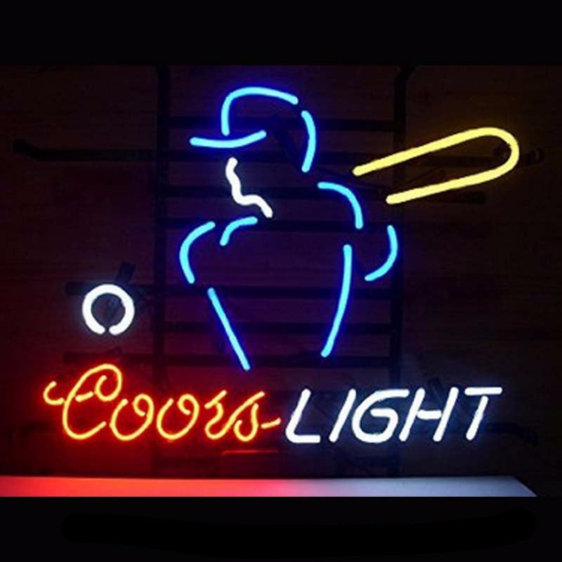 Coors Light Baseball Neon Bulbs Sign 17x14 inches -  - TheLedHeroes