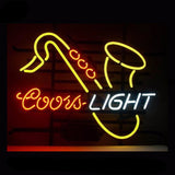 Coors Light Saxhorn Neon Bulbs Sign 17x14 -  - TheLedHeroes