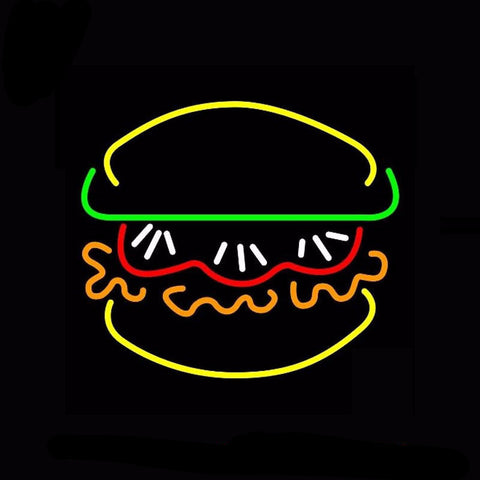 Burger With Vegie Neon Bulbs Sign 24x24 -  - TheLedHeroes