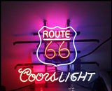 Route 66 Coors Light Neon Bulbs Sign 24x20 -  - TheLedHeroes