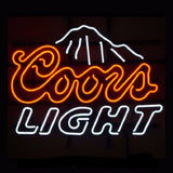 Coors Light Mountains Neon Bulbs Sign 24x20