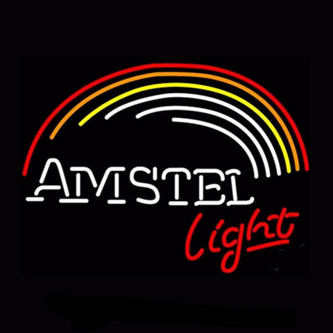 Amstel Rainbow Beer Neon Bulbs Sign 17x14 -  - TheLedHeroes