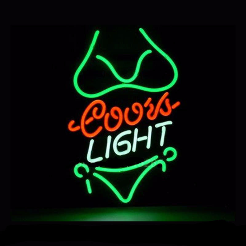 Coors Light Bikini Girl Neon Bulbs Sign 17x14 -  - TheLedHeroes