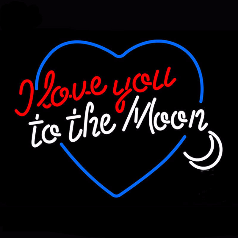 I Love You To The Moon Neon Bulbs Sign 31x24 -  - TheLedHeroes