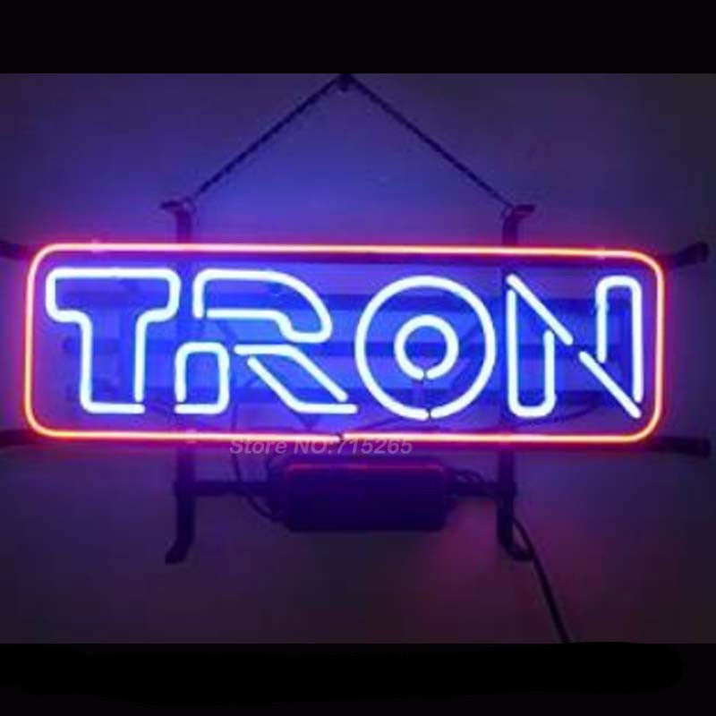 New Tron Neon Bulbs Sign 17x14 -  - TheLedHeroes