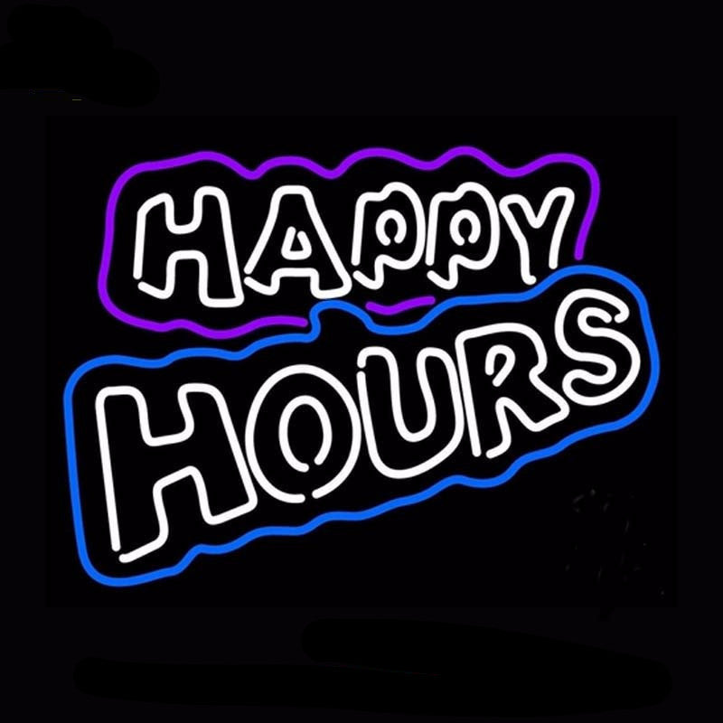 Happy Hours Neon Bulbs Sign 31x24 -  - TheLedHeroes
