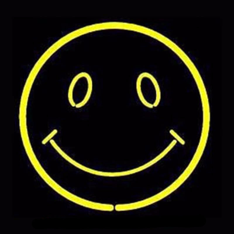Smiling Face Neon Bulbs Sign 17X14 -  - TheLedHeroes