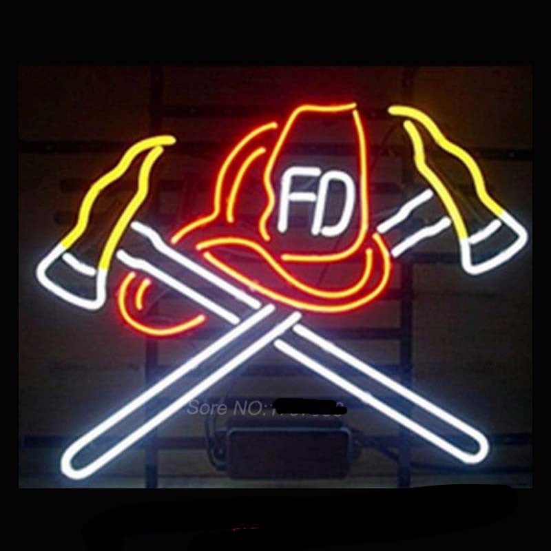 Firefighter Neon Bulbs Sign 20x16 -  - TheLedHeroes