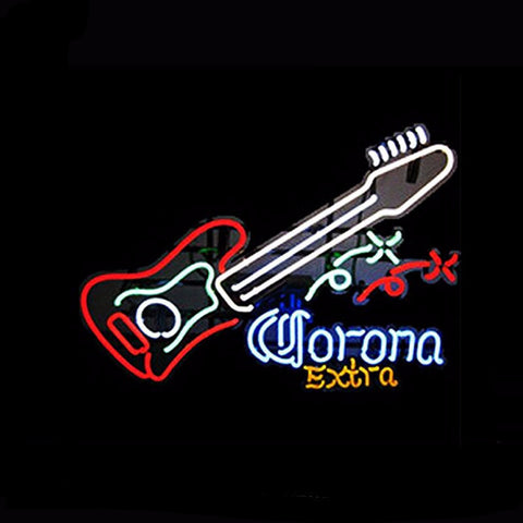 Corona Extra Guitar Neon Bulbs Sign 24x20 -  - TheLedHeroes