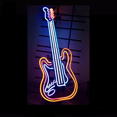 Guitar Music Rock Neon Bulbs Sign 24x14 -  - TheLedHeroes