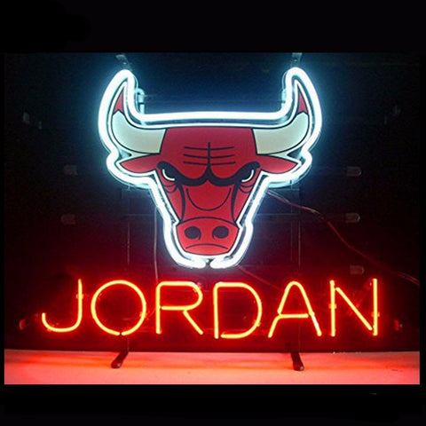 Chicago Bulls Jordan Neon Bulbs Sign 17x14 -  - TheLedHeroes