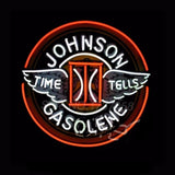 Johnson Gasoline Neon Bulbs Sign 24x24 -  - TheLedHeroes